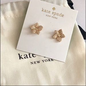 Kate Spade pave flower earrings